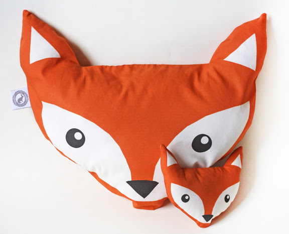 Fox pillow, foxes, dolls and wolfs - cut and sew pattern