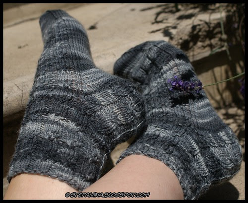 Havanna cabled-socks