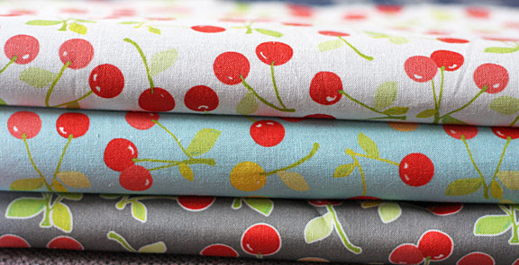 sweet cherries fabric
