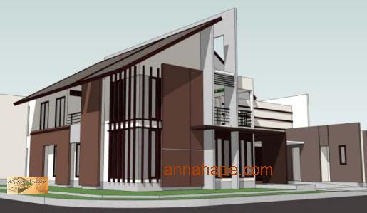 Gambar Desain Rumah Memanjang Ke Belakang Contoh Z