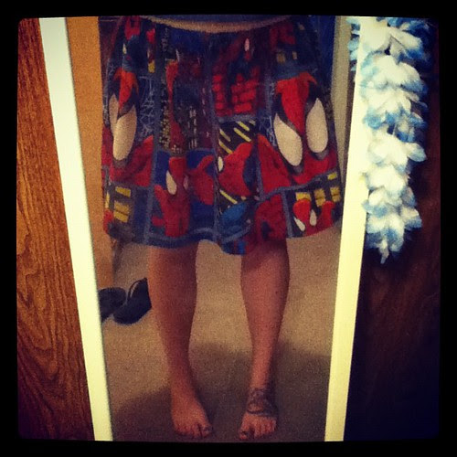 I finished my first skirt! #geek #craft #SpiderMan