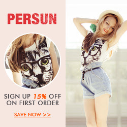 15% Off for 1st Order at Persun