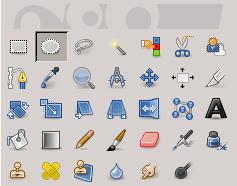 L'icona della selezione ellittica nella barra degli strumenti