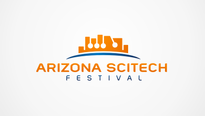 a two month event encompassing hundreds of science, education, technology and outreach events throughout the state of Arizona logo design