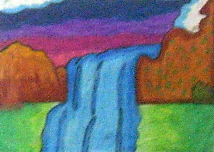 58 Koleksi Contoh Gambar Pemandangan Gunung Dan Air Terjun Menggunakan Pensil Terbaik