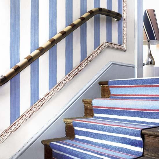 Hallway with striking stairs   Hallway design   Decorating ideas