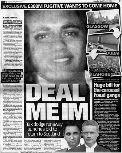 Deal Me Im.jpg Sunday Mail 8 April 2012
