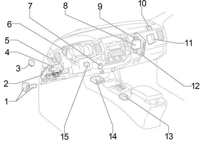 05 15 Toyota Tacoma Fuse Diagram
