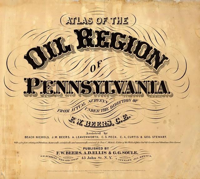 Atlas of the oil region of Pennsylvania 1865
