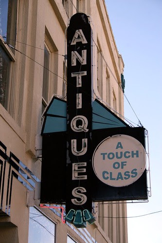 neon sign on the hall furniture building