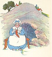 THE OLD WOMAN UNDER A HILL