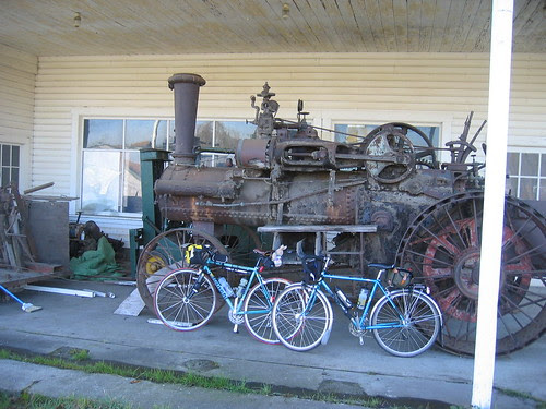 Bianchi and Bleriot and the antique fire engine