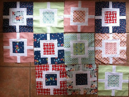 DS Quilts/Garden Fence quilt progress