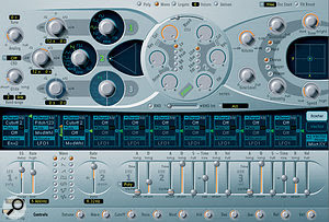 Most of the sound sources came from Logic's EXS24 sampler or one of its soft synths, like the ES2 'bass lil fuzz' keyboard part.