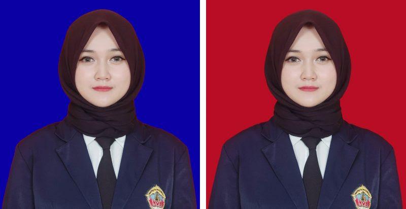 Cara Mudah Edit Background Merah & Biru Foto Pakai HP + Penjelasan