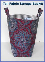 Tall Fabric Storage Bucket - Ralph Lauren Floral