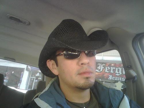 I'm a cowboy, on a steel horse I ride.