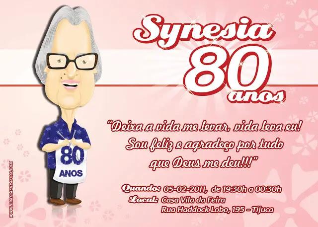 Mensagem Aniversario 80 Anos Presente E Festa Mensagens