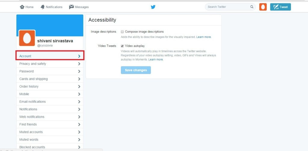 Cara menonaktifkan account Twitter