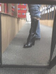 Me wearing the coolest boot ever