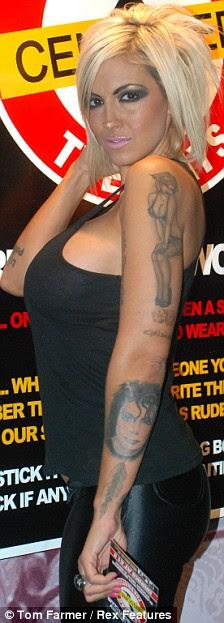 Tattoo far? Jodie Marsh shows off her new tattoos of Michael Jackson,