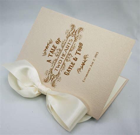 Vintage Book Style wedding ceremony program   Design
