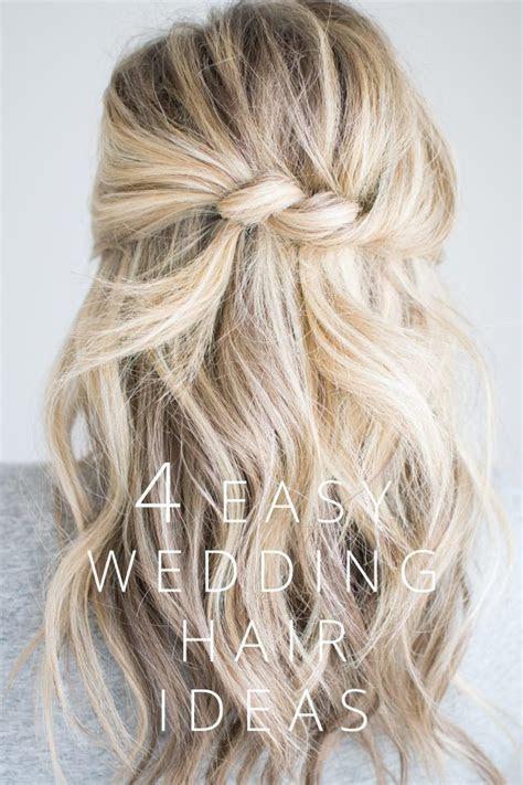 4 Easy Wedding Hair Ideas (The Small Things Blog)   Hair