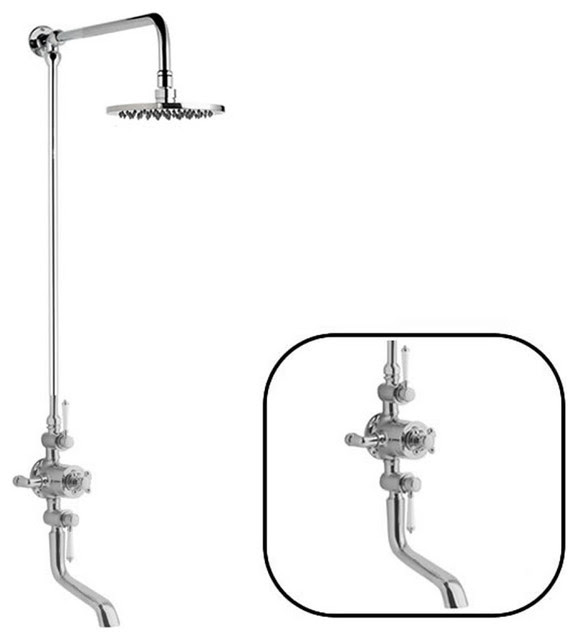 Traditional Thermostatic Shower System With Exposed Valve ...