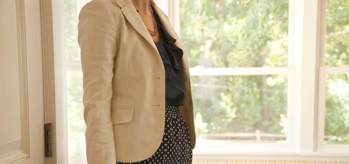 polkadots polka dot dashdotdotty blog fashion best ever navy white blazer theory