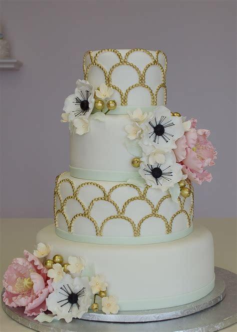 1920's Fondant Wedding Cake   CakeCentral.com