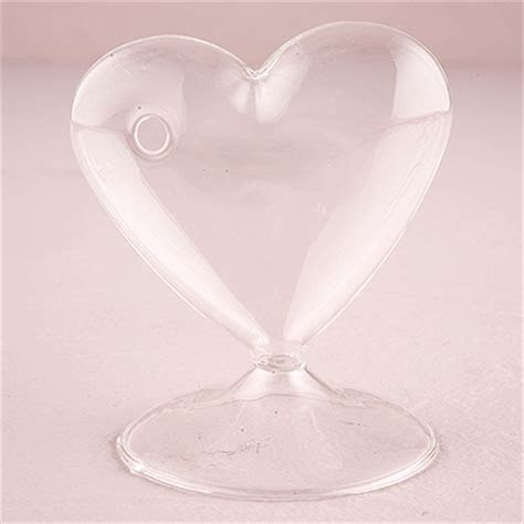 Glass Heart Shaped Vase   The Knot Shop
