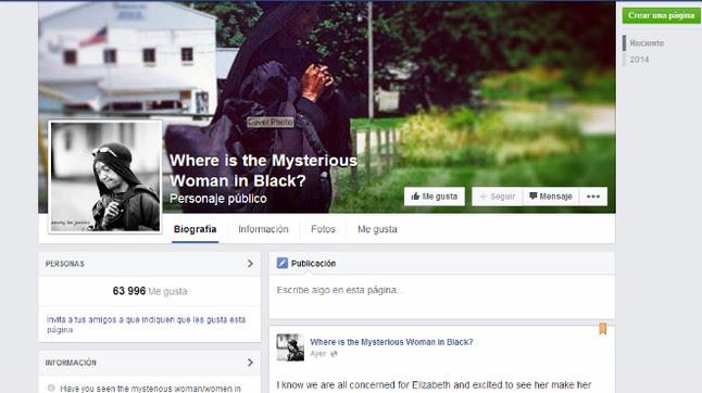 La campaña de Facebook sobre 'la misteriosa mujer de negro'