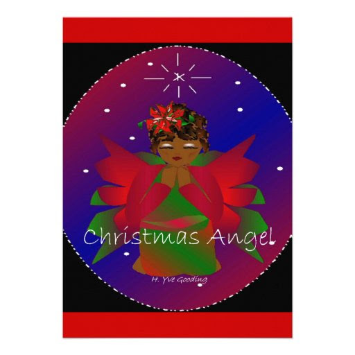 African-American Christmas Angel Baby Girl Praying Personalized ...