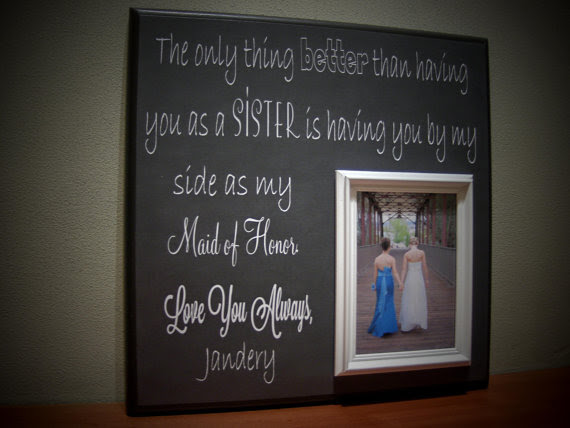 Sisters Wedding Picture Frame Maid Of Honor Bridesmaid Best