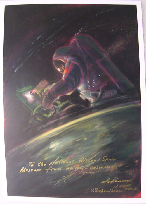 Sprnt150 Cosmonaut Artist Dzhanibekov Space Welding Artwork Ussr Airspace Cosmonaut And Aviation Collectibles