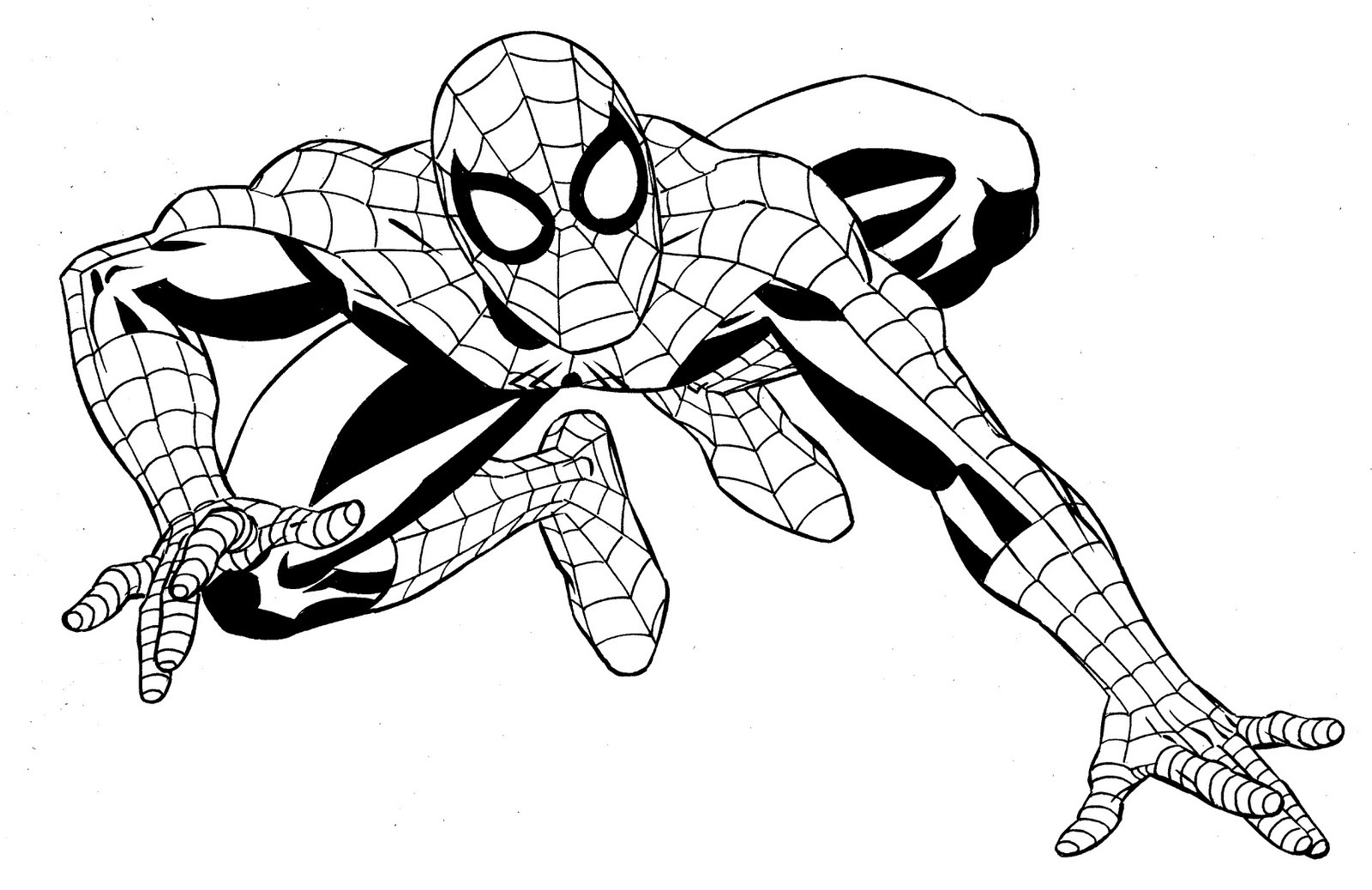 92 Spiderman Template Coloring Pages , Free HD Download