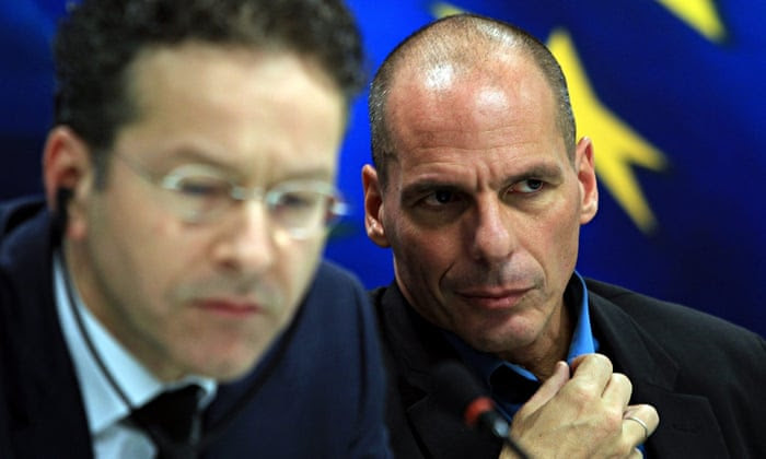 greece finance minister Yanis Varoufakis dutch eroen Dijsselbloem eurogroup