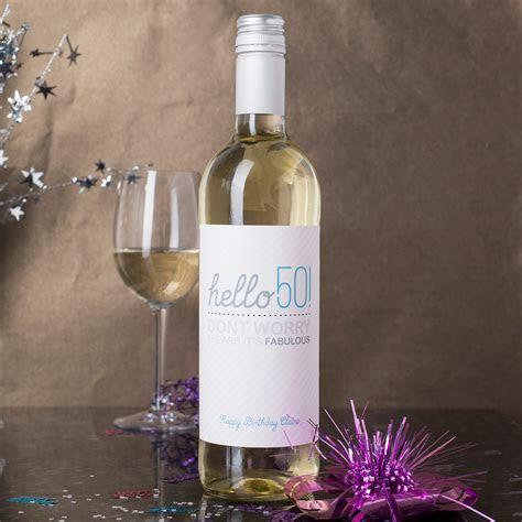 Personalised Wine   Hello 50   GettingPersonal.co.uk