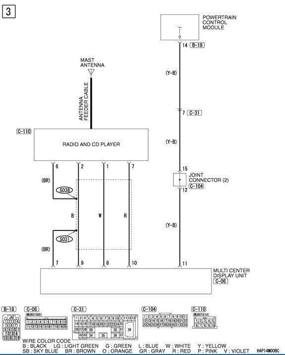 Mitsubishi Radio Wiring Diagram