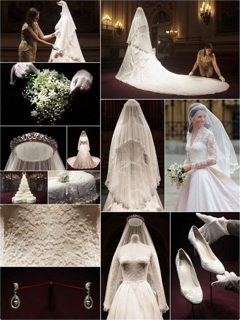 HRH Catherine, Duchess of Cambridge wedding collage. She