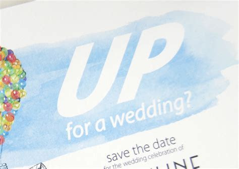 UP Wedding, Disney Inspired Save the Date Cards