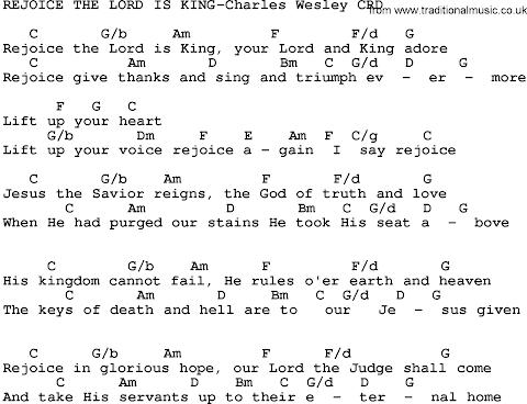 Rejoice The Lord Is King Lyrics Charles Wesley