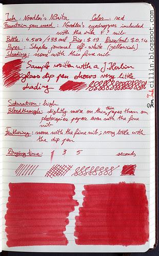 Noodler's Nikita ink on Staples journal