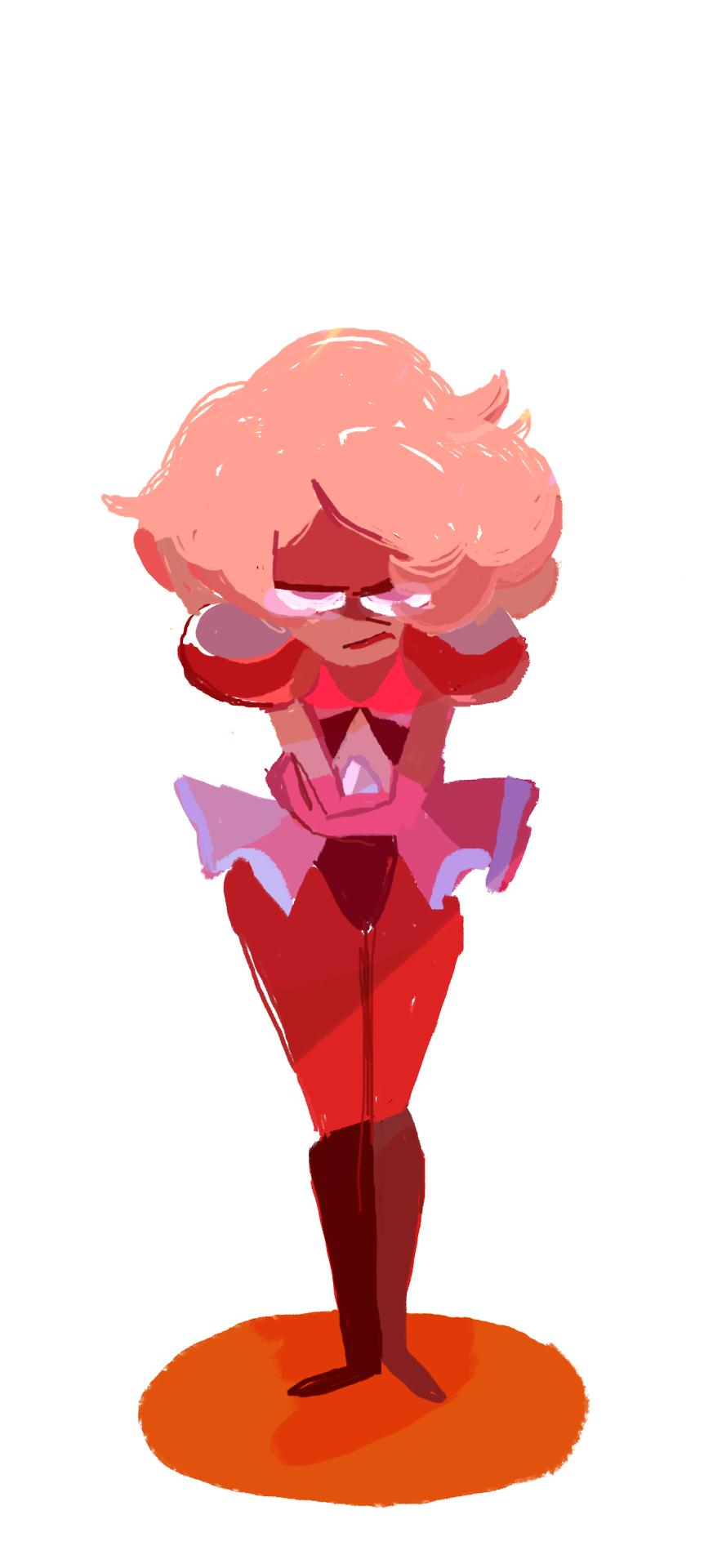 She pout