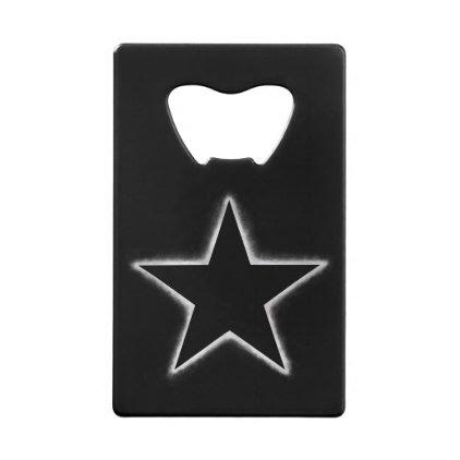 Star eclipse credit card bottle opener