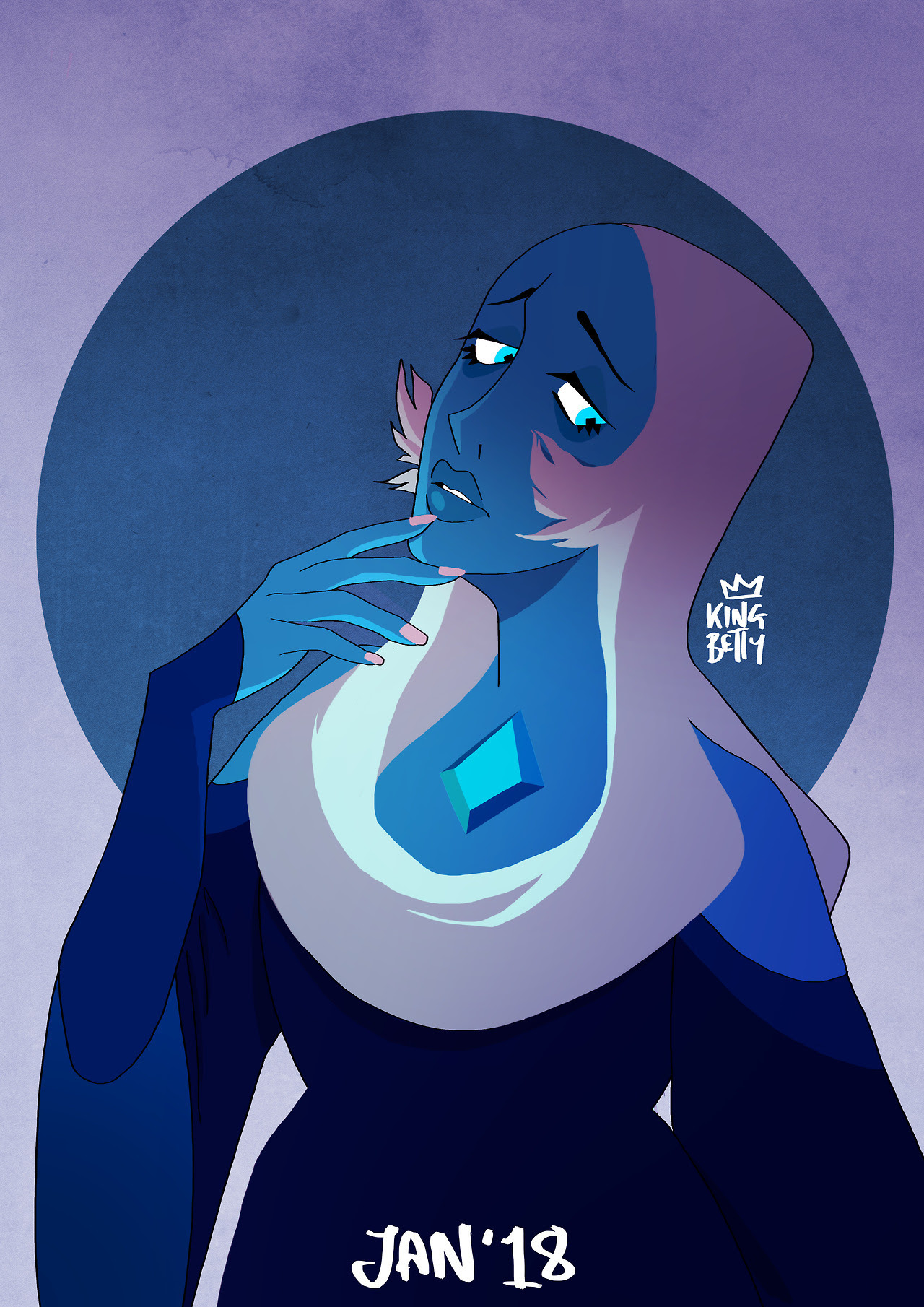 I decided to do a redraw! I drew the first Blue Diamond after The Answer episode aired, and we saw her for the first time! I was too lazy to do a lineless style like the first drawing, and I draw more...