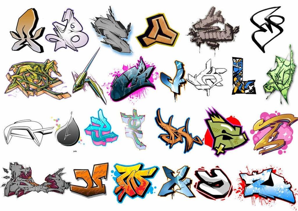 graffiti alphabet brush