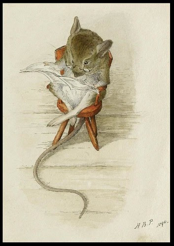 Mouse Reading Newspaper - Beatrix Potter