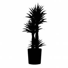 観葉植物シルエット イラストの無料ダウンロードサイトシルエットac