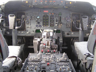Air New Zealand B737-300 instrument panel